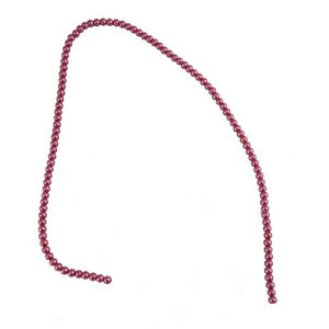 TPG4MAUVE String of 4mm Mauve Glass Beads for Jewellery Making
