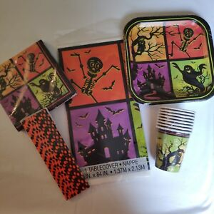 Halloween-Party-Supplies-Tableware-Bundle-CLEARANCE-PRICES