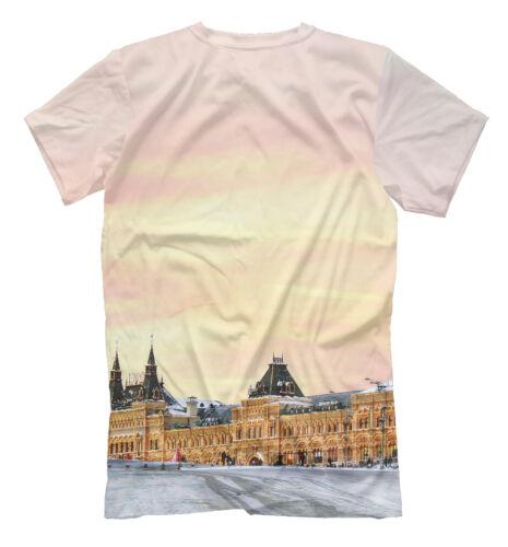 Sobor vasiliya Tee-Saint Vasil/'S RED SQUARE Russa Mosca Cremlino T-shirt