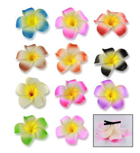 Haarspange Haarklammer Frangipani 8cm Hawaii Blume Blüte Rockabilly Brautjungfer