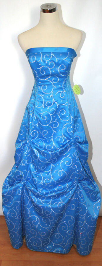 NWT HAILEY LOGAN  Turquoise Prom Evening Gown 9