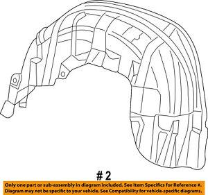 Dodge-CHRYSLER-OEM-Quarter-Panel-Fender-Liner-Splash-Shield-Left-68369751AC