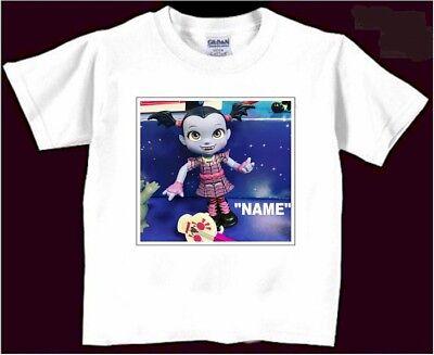 Personalised Childrens Boys Girls Vampirina T-Shirt White