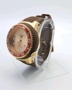 Swiss-Legend-Neptune-Mens-Brown-Rubber-Analog-Adjustable-Holes-Watch-225