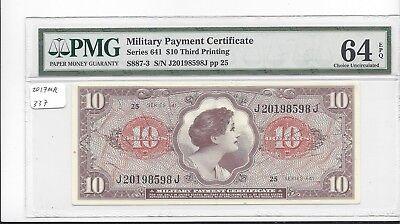 MPC Series 641  10 cents 1st  printing  PMG 64EPQ  CHOICE UNC