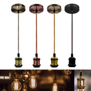 E27-Screw-Ceiling-Pendant-Light-Fabric-Flex-Pendant-LampHolder-Fitting-Lighting