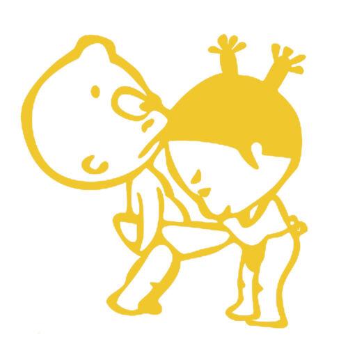 Sticker Décoration Bébé Humour Petite Fille Petit Garçon 15x15 cm à 30x30 cm