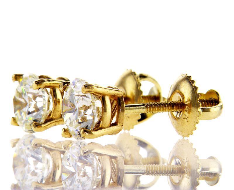 Yellow Gold Screw Back...1 2 Ctw Meaning