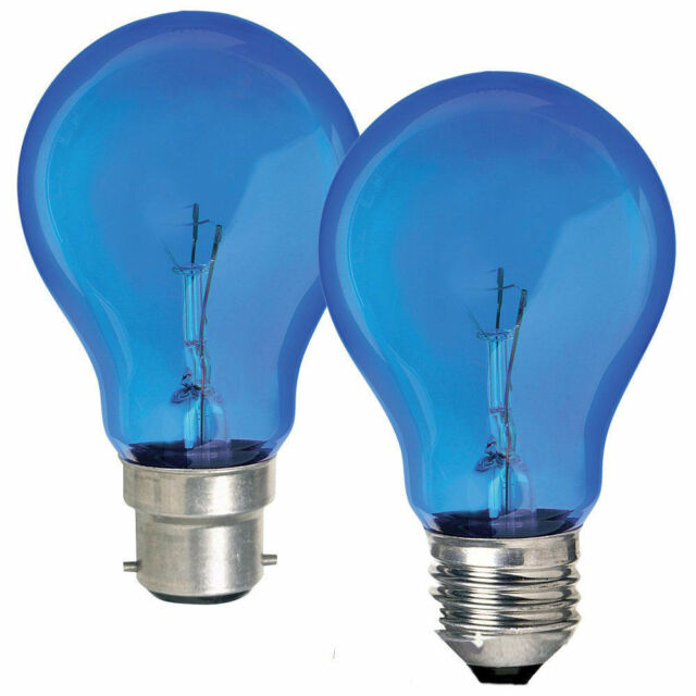 """Crompton"" 60w or 100w GLS Blue Light Bulb for Natural Daylight in B22 or E27"