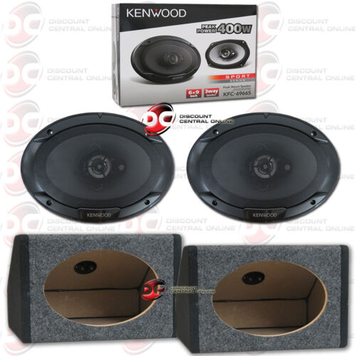 "KENWOOD KFC-6966S 6/"" x 9/"" 3-WAY COAX CAR SPEAKERS FREE 2 x ANGLED SPEAKER BOXES"