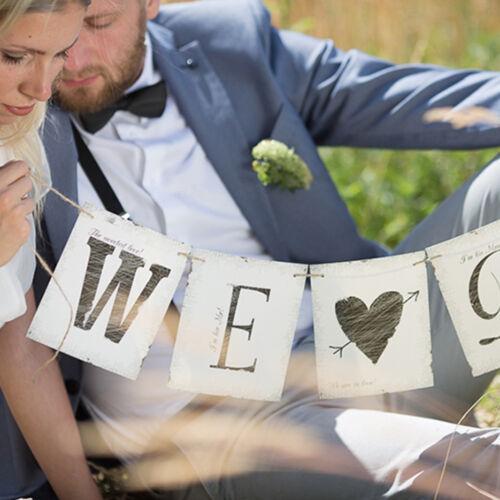 """Hochzeitsbanner /""""WE DO/"""" 77cm Hochzeitsgirlande Hochzeitsdekoration Autodeko"""