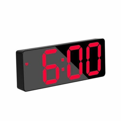 Acrylic Mirror Alarm Clock LED Digital Clock Snooze Time Temperature Display