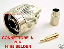 CONNETTORE  N Maschio a crimpare per cavo Belden H155