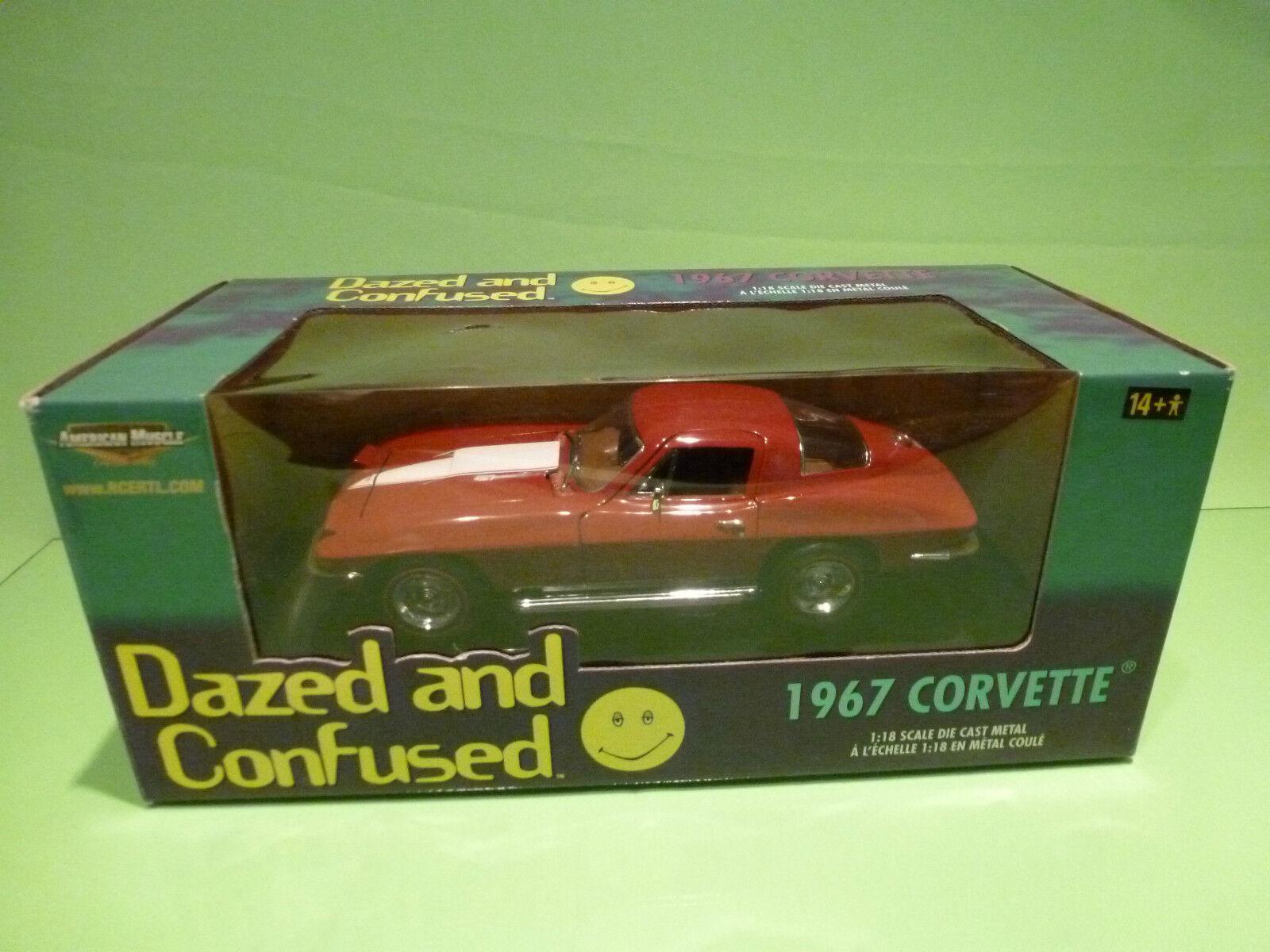 ERTL AMERICAN MUSCLE 36685 CHEVROLET CORVETTE 1967 - DAZED CONFUSED 1 18 - NMIB