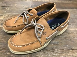 Sperry-Men-039-s-Intrepid-Top-Sider-Tan-Leather-Casual-Boat-Shoes-Floor-Model