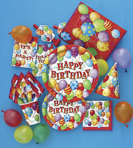 Happy-Birthday-Party-Tableware-Balloon-Design-Plates-Cups-Napkins-Balloon