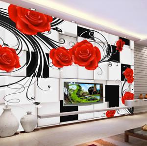 3D Fashion Red pinks 7 Wall Paper Murals Wall Print Wall Wallpaper Mural AU Kyra