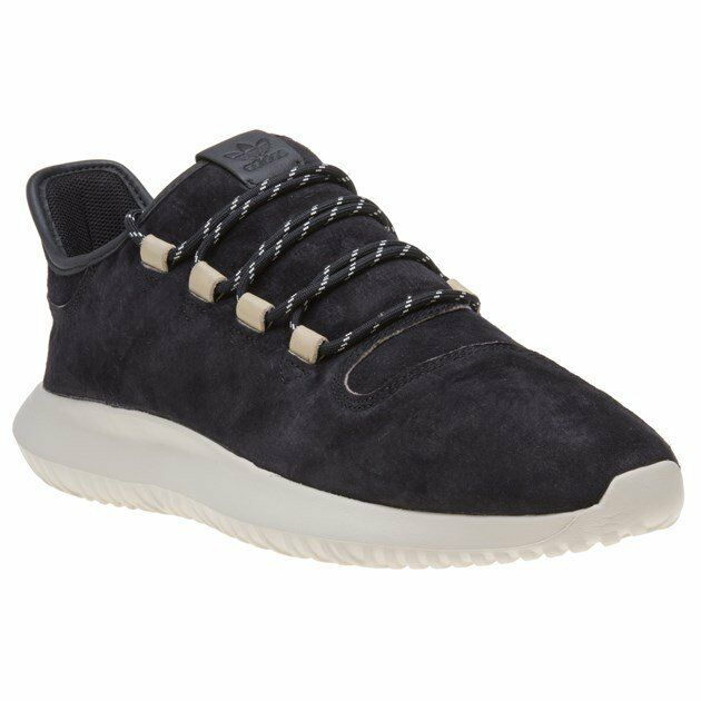 New MENS ADIDAS BLACK TUBULAR SHADOW SUEDE Sneakers Running Style