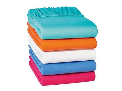Jersey Fitted Sheet Single 90 Double 140 160 King Size 180 200 Elasticated Edge