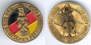 DDR-seltenes-Abz-Tag-des-Deutschen-Bergmanns-1959-goldfarbend-teils-lackiert