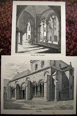Kloster Maulbronn QualitäT In 2 Originale Lithographien Von 1891 üBerlegene Vorhalle