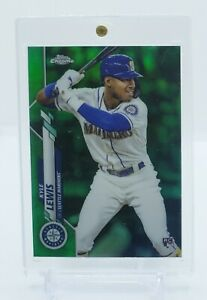 2020-Topps-Chrome-Kyle-Lewis-Green-Refractor-Rookie-Card-99-ROY-RC-MINT-PSA