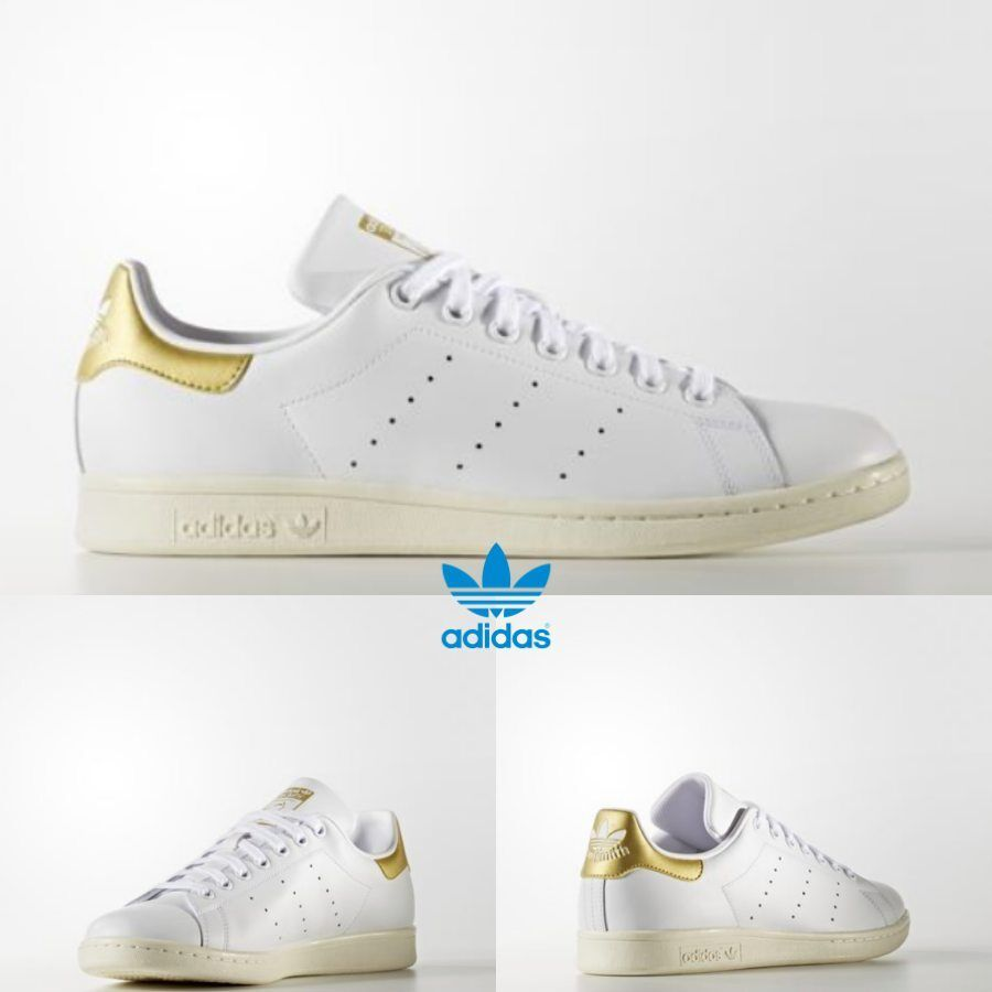Adidas Women Stan Smith Athletic Running shoes White gold White AQ0439 SZ 4-12