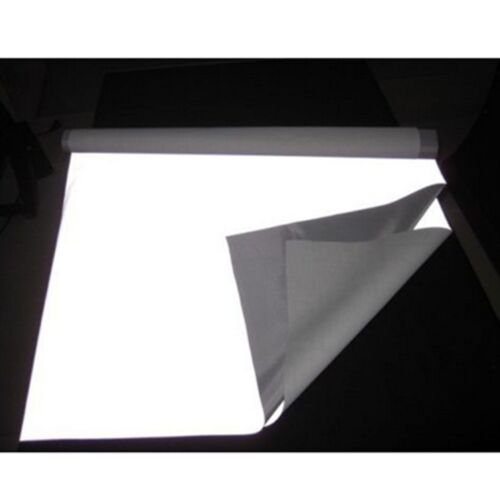 """3/""""x39/"""" Safty SILVER REFLECTIVE FABRIC sew on material Gray 8cmx1M #B072"""