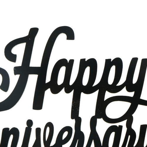 Happy Anniversary Letter Cake Topper Acrylic Xmas Party Cake Decoration  X
