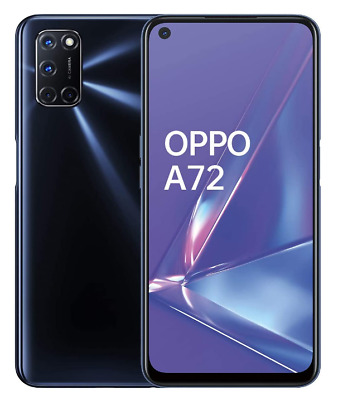 OPPO A72 TWILIGHT BLACK 128GB ROM 4GB RAM DUAL SIM ANDROID DISPLAY 6.5""
