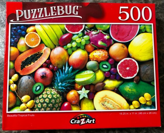Fruits Shakes Candies Lot of 3 Puzzlebug 500 Piece Jigsaw Puzzles 18 in x 11 in