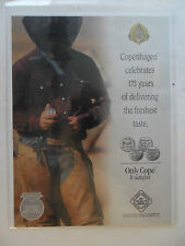 1997 Print Ad Copenhagen Smokeless Chewing Tobacco ~ Western Cowboy 175 Years