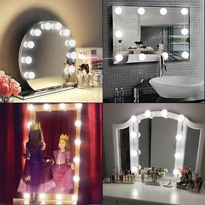 12 Led Bulbs Vanity Mirror Light Kit For Makeup Dressing Table Retro