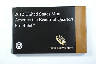 S Proof National Parks Quarters 5-coin Set OGP in Box with COA 2012