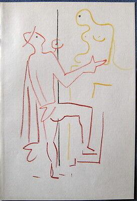 Jean COCTEAU : Lithographie originale couleur 1957 La machine infernale