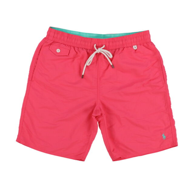 aaf0d21fc83b9 ... clearance polo ralph lauren mens swim trunks shorts pink coral sz m  medium 5c2d6 d30f6