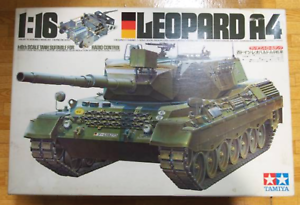 Details about Vintage Tamiya RC LEOPARD 1/16 Scale Tank Radio Control Model  Kit NIB