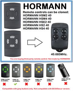 HSM4 40 Universal Remote Control Duplicator 40.685 MHz. Hormann HSM2 40