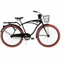 26 Huffy Nel Lusso Vintage Men's Cruiser Bike Black Beach Bicycle
