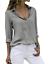 Women-039-s-Chiffon-Long-Sleeve-V-Neck-Blouses-Tops-Button-Down-Business-Blouse thumbnail 16