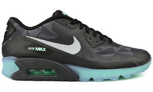 Details zu 2014 NIKE AIR MAX 90 ICE QS BLACKCOOL GREY Gr.38,5 US 6 patch 718304 001 pnd sp