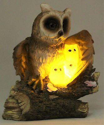LED a Energia Solare Gufo Luce Giardino Caratteristica ornamento decorazione animale da giardino ee1