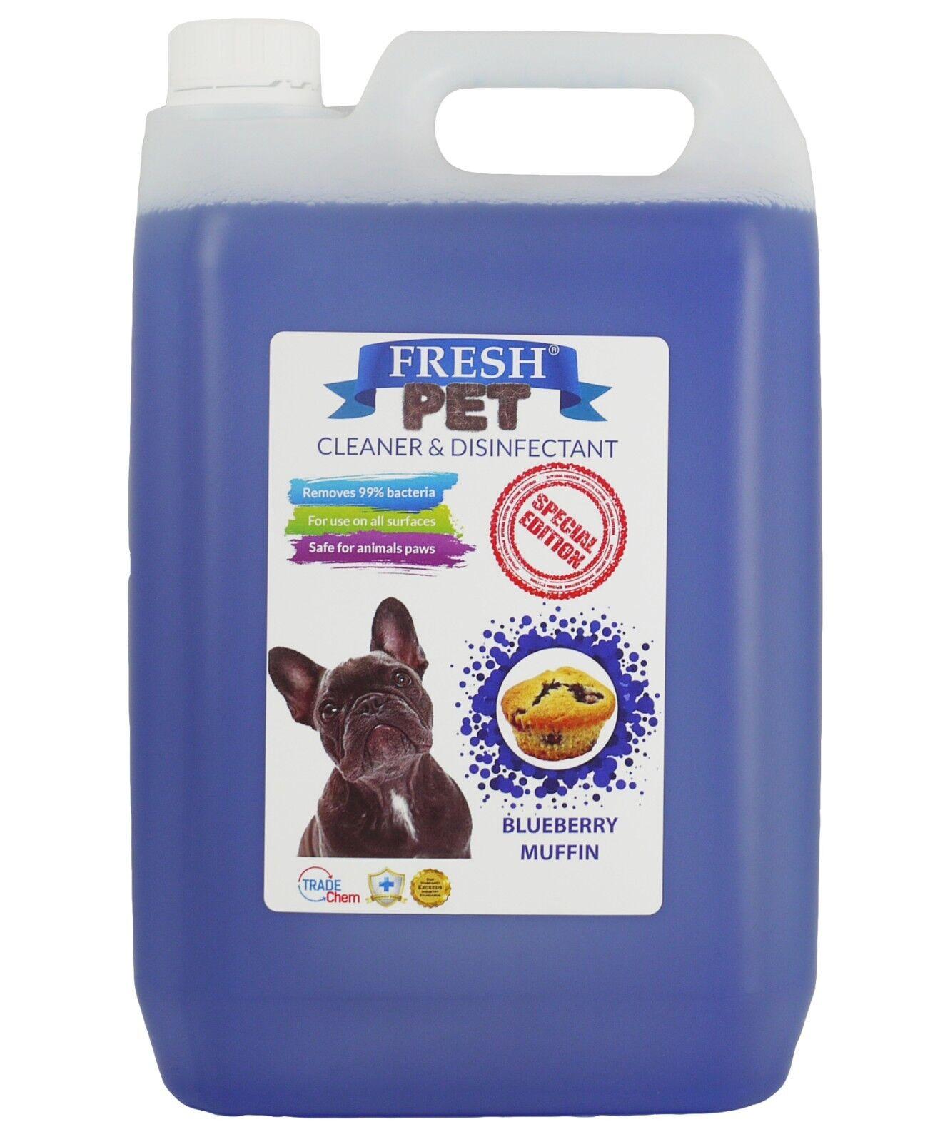 Fresh Pet Kennel Disinfettante Coffee Shop - Precaricato 5L Mirtillo Muffin