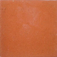 S09) Set Nine Mexican Tiles Clay Tile Solid Terracotta Color