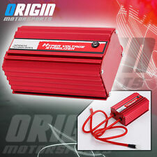 JDM CNC ALUMINUM UNIVERSAL HYPER VOLTAGE STABILIZER BATTERY GAS FUEL SAVER – RED