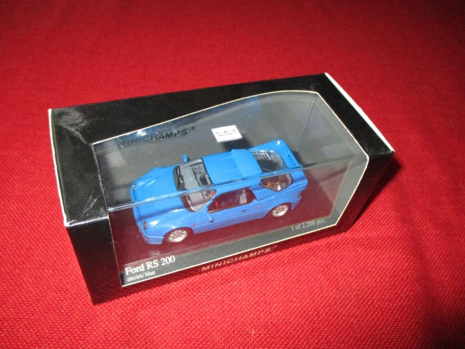 Minichamps ® 430 080202 1 43 ford rs 200 1986 neu ovp blau