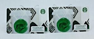 Starbucks Coffee 2013 Gift Card Tribute Green Dot Mug Zero Balance Set of 2