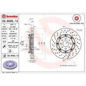 2 Disque de frein BREMBO 09.b085.13 Two-piece Floating Discs Line convient À