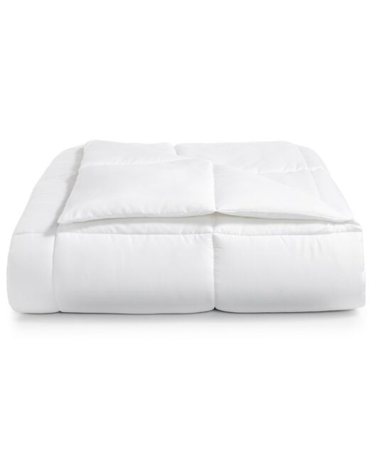 Martha Stewart Essentials Down Alternative KING Comforter WHITE $80 E91151