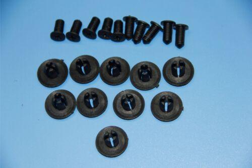8-9MM JAGUAR S-TYPE BLACK PLASTIC RIVET SIDE SKIRT PANEL DOOR BUMP TRIM CLIPS